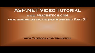 Different page navigation techniques in asp.net   Part 51