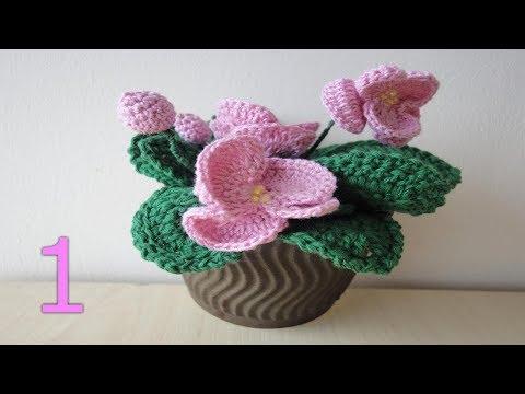 Цветы в доме. Обильное (шапочное) цветение фиалки.