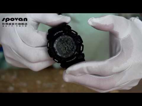 Spovan sports GPS watch Digital man`s Watches ANTI-FREEZE & EXPLOSION-PROOF & WATERPROOF TEST