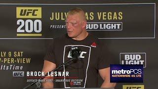 بالفيديو- بروك ليسنر ينتصر في UFC 200.. شاهد أول تصريحاته عقب الفوز