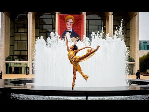 Ballerina Photobombs Lincoln Center for Epic 10 Minute Photo Challenge