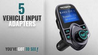 Top 10 Vehicle Input Adapters [2018]: FM Transmitter, VicTsing Car MP3 Player FM Transmitter