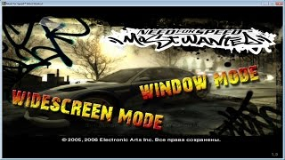 Repeat youtube video How to play nfs: most wanted 2005 in Window mode