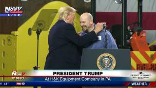 PRESIDENT IN PA: Trump makes comments at H&K Equipment