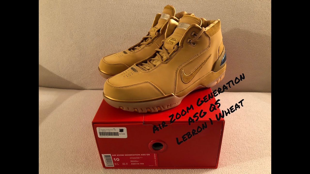 907ed4a7b2133 Quick Unboxing Air Zoom Generation ASG QS Lebron 1 Wheat - YouTube