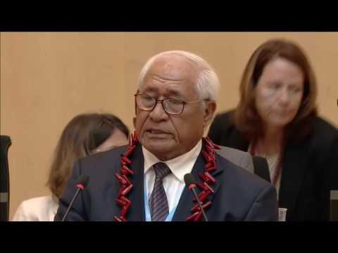 Samoa Pacific 69th World Health Assembly in Geneva