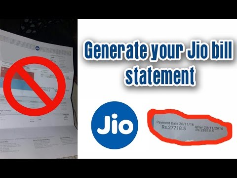 Generate your Jio Bill statement (prepaid,simple method)