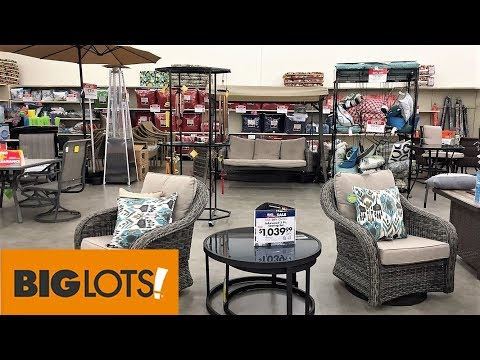 BIG LOTS OUTDOOR PATIO FURNITURE SUMMER HOME DECOR - SHOP WITH ME SHOPPING STORE WALK THROUGH 4K