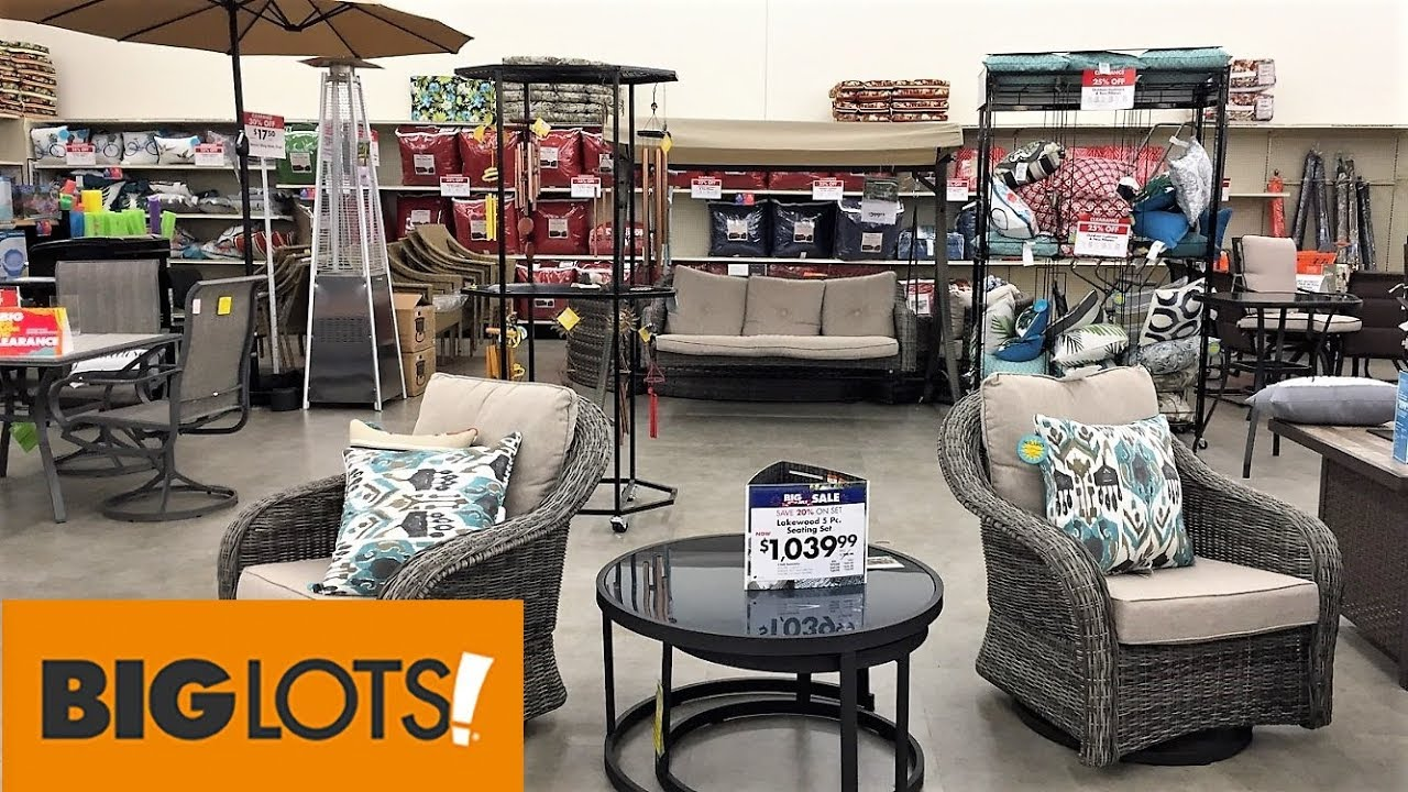 big lots outdoor patio furniture summer home decor shop with me shopping store walk through 4k