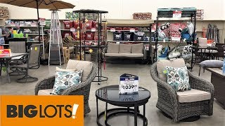 Big Lots Outdoor Patio Furniture Summer Home Decor Shop With Me Shopping Store Walk Through 4k Youtube