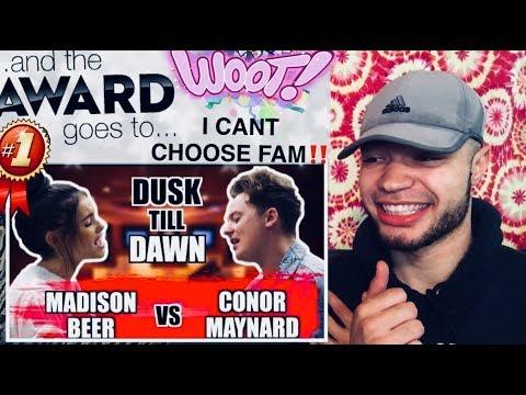 "CONOR MAYNARD x MADISON BEER (Who Won Fam⁉️😳) ""Dusk Till Dawn"" REACTION !!"