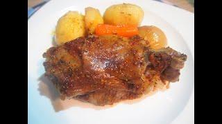 Баранья нога с овощами запеченная в духовке. Нереально вкусно! Как приготовить баранину.