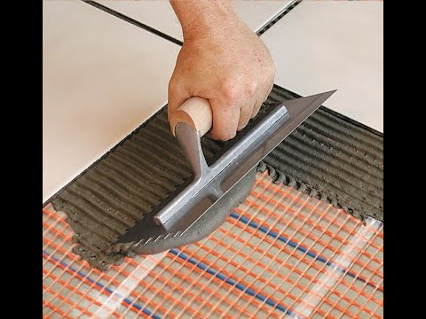 How To Install A SunTouch Electric Floor Heating Mat   YouTube