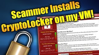 Scammer Tries To Destroy VM With CryptoLocker! | Tech Support Scammers EXPOSED!