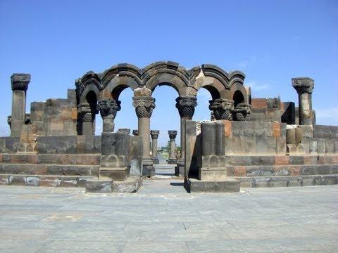 Zvartnots Cathedral, Armenian Apostolic Church, Ejmiatsin, Armavir Province, Armenia, Eurasia
