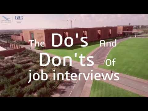 The Do's and Dont's of job interviews