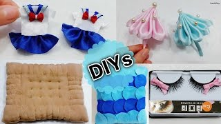 5 Fun DIYs When You're Bored: DIY Miniature School Uniform&Umbrella+DIY Biscuit/Mermaid Pillow+more