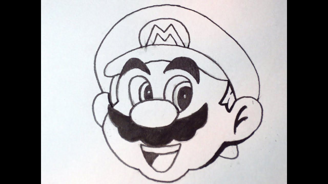 How to draw mario youtube for Super easy drawings