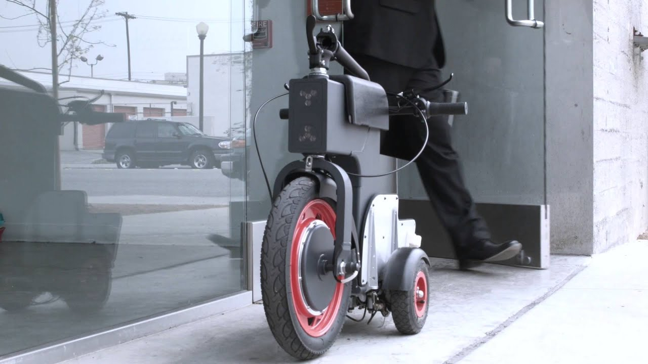 202786 3 Wheel Folding Electric Scooter Youtube