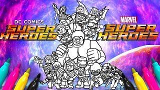 Marvel DC Comics Superheroes Coloring Set | Avengers Justice League Coloring