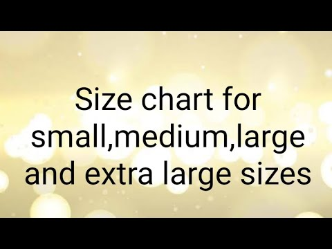 #Size #Chart Of #Simple #Shirt For #Small #Medium #Large And #Extra #Large #Size