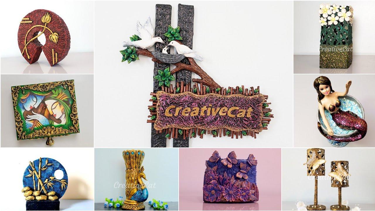 50 beautiful home decor ideas/ Art and craft/ wall decor/ Creative Cat