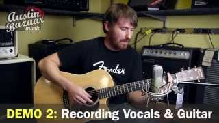 cad u37 u3 usb studio microphone demo