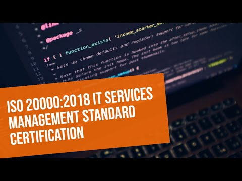 ISO 20000:2018 IT Services Management Standard Certification