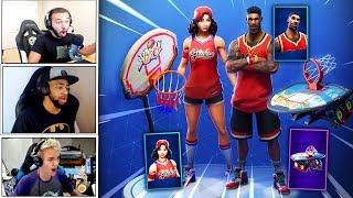 STREAMERS REACTS TO *NEW* JUMPSHOT & TRIPLE THREAT SKINS + SLAM DUNK -Fortnite Best & Funny Moments
