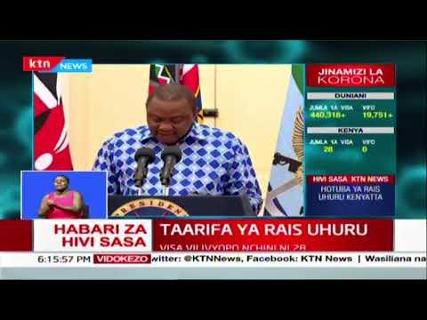 Ordinary calendar of cabinet and key state agencies reorganized | President Uhuru\'s address