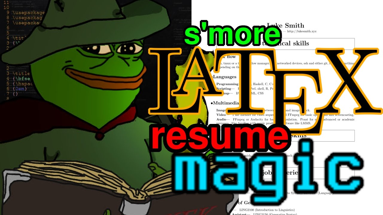 making a resume with some latex magic part 2 youtube