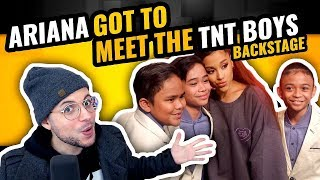 Ariana Grande Surprises TNT Boys f/ 'The World's Best' | And I Am Telling You | Backstage | REACTION