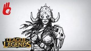Cómo dibujar bien: League of Legends Nidalee VS Garruk - How to draw LoL character. Dibujar Bien.com