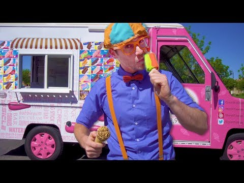 Blippi Visits an Ice Cream Truck | Math and Simple Addition for Children