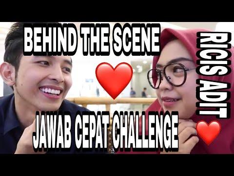 BEHIND THE SCENE RICISS JAWAB CEPAT CHALLENGE WITH ADIT || DUHH ROMANTIS BANGET