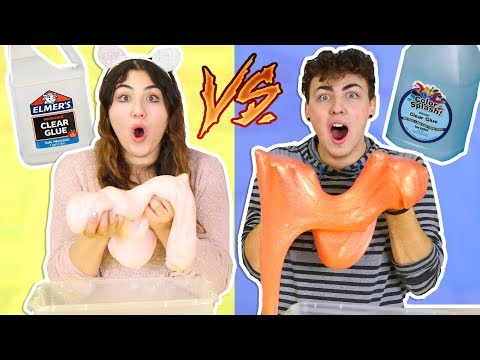 1 GALLON OF ELMERS CLEAR SLIME  VS 1 GALLON OF COLOR SPLASH CLEAR SLIME | Slimeatory #263