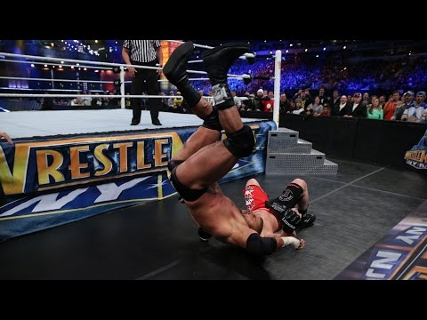 Brock Lesnar takes Triple H to Suplex City: Slow Mo Replay from WrestleMania 29