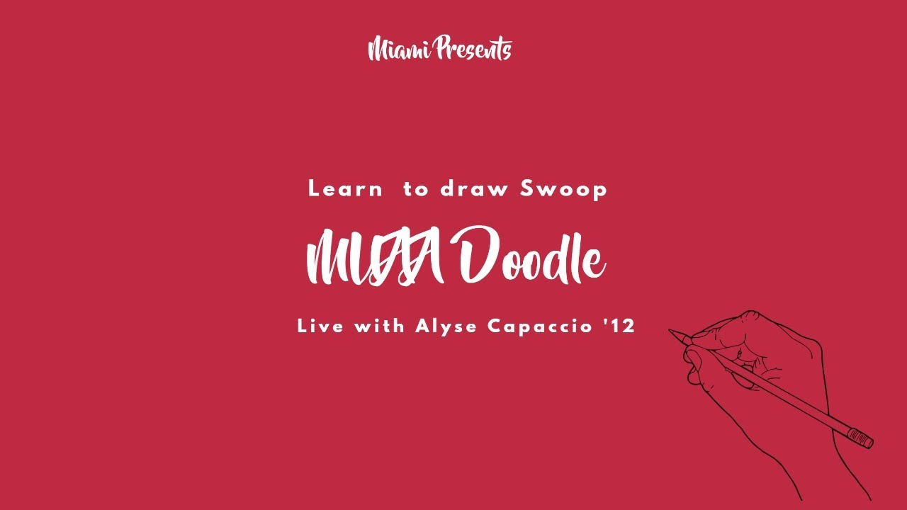 Image for Miami Presents: Learn to draw Swoop MUAA Doodle webinar