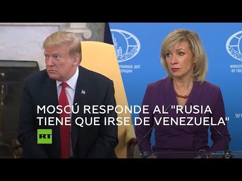 """Moscú responde al """"Rusia tiene que irse de Venezuela"""" de Donald Trump"""