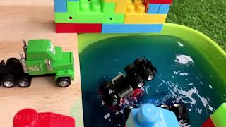 42 Disney Cars Toys Play for Kids and Toddlers   Lightning McQueen Jackson Storm Mack Truck  Dinoco