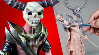 Sculpting HADES! *God of the Underworld* Polymer Clay Tutorial (timelapse) | Ace of Clay