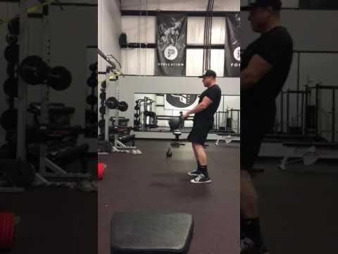 Kettle bell swings | Pursuit Training Gym | Windsor Colorado