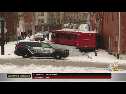 Port Authority Bus Slides On Ice, Crashes Into House Uptown