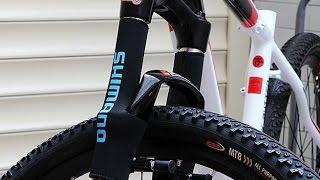 Обзор и отзыв о защиты зеркальной поверхности амортизационной вилки велосипеда Shimano с Aliexpress