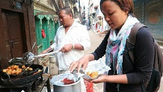 NEPALI STREET FOOD TOUR | Deep Fried NEPALI BREAKFAST+ KATHMANDU Sightseeing (Part 1) thumbnail