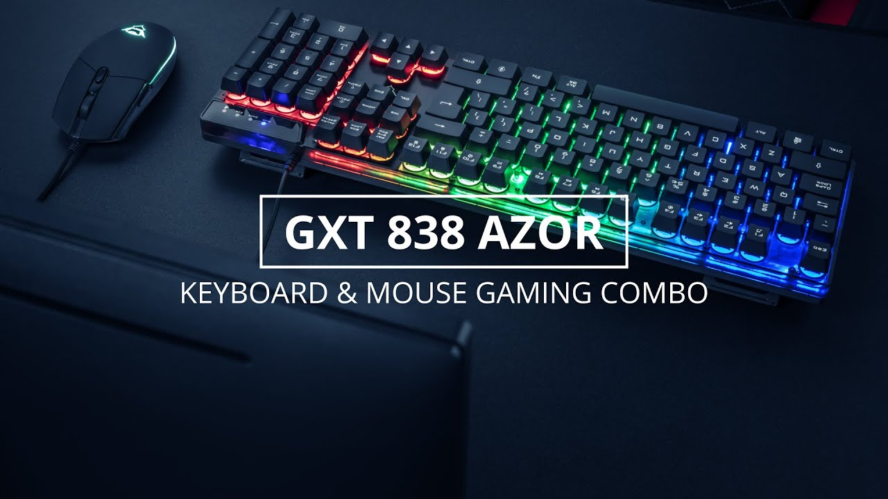 GXT 838 Azor Gaming Combo (keyboard with mouse)