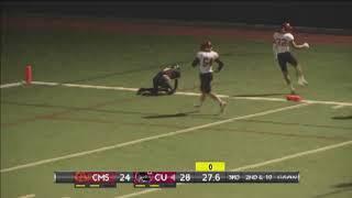 Chapman quarterback turns broken play into 67-yard TD