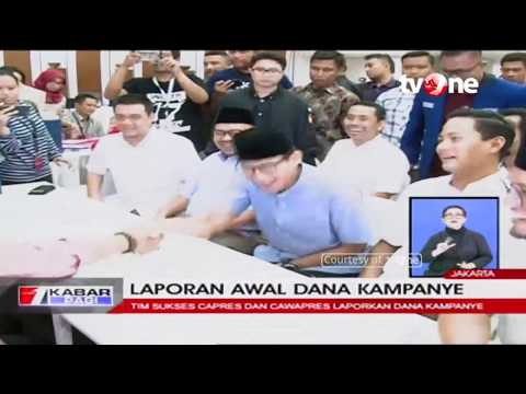 Laporan Awal Dana Kampanye: Jokowi-Ma'ruf Rp11 Miliar, Prabowo-Sandi Rp2 Miliar Mp3