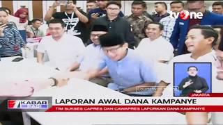 Laporan Awal Dana Kampanye: Jokowi-Ma'ruf Rp11 Miliar, Prabowo-Sandi Rp2 Miliar