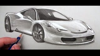 How to Draw a Car: Ferrari 458